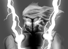 digital painting thor wip by jwientjes