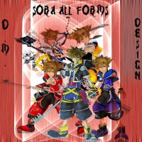Kindom Hearts 2-sora all forms by Diego-Martin