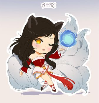 Chibi Ahri - League of Legends by GisAlmeida