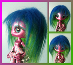 Mae Tallick Blue/Green Fur Wig by XaiIrken