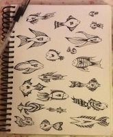Fishy Sketch Dump by Jelliclesong