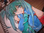 Hatsune Miku sketchbook painting by TheDorkyDerpster