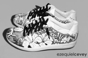 Custom shoes - hibiscus by surfender