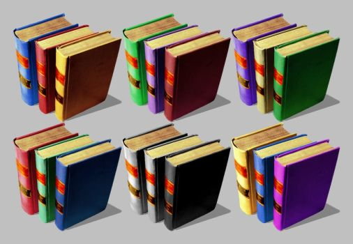 Books Icons for Vista by CitizenJustin