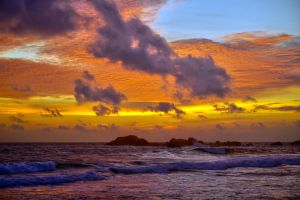 Sunset Over Indian Ocean by CitizenFresh