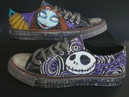 Nightmare Before Christmas Jack and Sally Shoes by rachelliles352