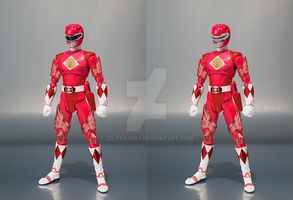 What-If set - SH Figuarts MMPR Red Ranger (Movie) by Zeltrax987