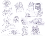 .:: DP Character Sketches ::. by Phantomfan422