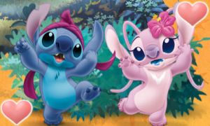 Stitch and Angel Sig by GabzieChan