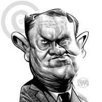 Evelyn Waugh by RussCook
