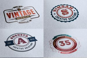 10 Retro Signs or Badges v.2 by hugoo13