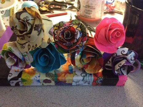 Duct Tape Roses by AllThesePiecesOfMe