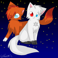 Foxkit and Sootkit by Wolfeon2