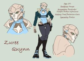 Zuree Qyunn: Study Sheet by Madam-Sparkz
