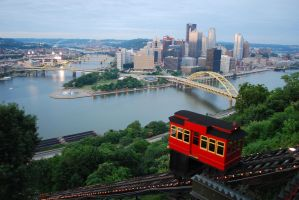 Classic Pittsburgh Skyline by zariens