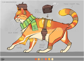 Peachcat Teacat Ref by Gato-Iberico
