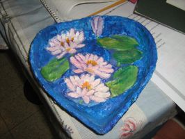 Monet's water lilies on a bowl by EvilOpal