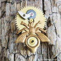 clockworked Bug Brooch by clockwork-zero