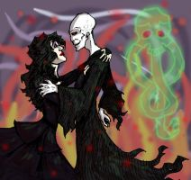 Voldemort and Bellatrix by A-Kor13