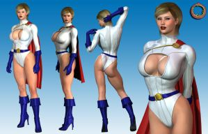 Power Girl character sheet by Uroboros-Art