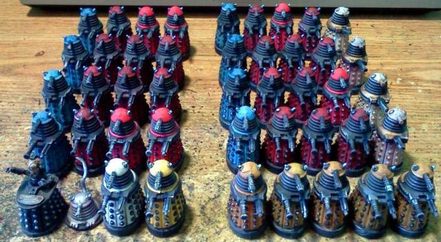 45 Daleks (front) by Spielorjh