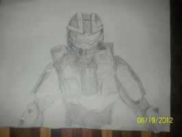 master chief drawing by DJ-celtica