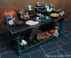 Witch's Preperation Table by NJD-Miniatures