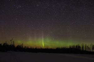 Aurora and a comet 2 by Antza2