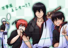 Gintama - Yorozuya Family Welcome by Alasse-Tasartir