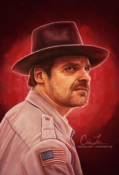 Jim Hopper by cmloweart