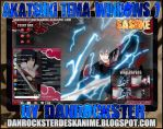 Sasuke Akatsuki Tema Windows 7 by Danrockster