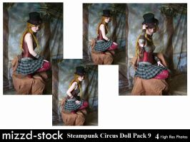 Steampunk Circus Doll Pack 9 by mizzd-stock