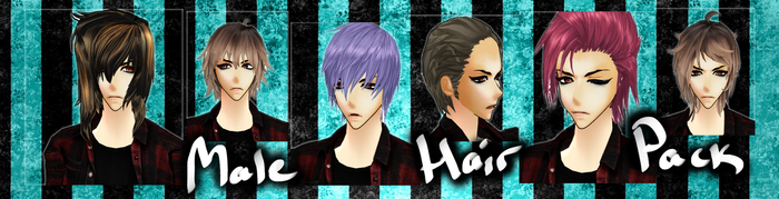 [MMD] Male Hair Pack DL by DeidaraChanHeart