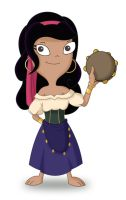 Ginger as Esmeralda by JaviDLuffy