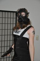 Wearing an S10 gas mask by MaryLaBelle