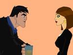 Bruce and Andrea (the Batman Style) by VaderNihilus