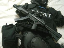 MP5A2 with SWAT gear by Vuddha