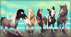 Horsies by ZabbyTabby