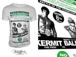 Rocky vs Kermit T-Shirt by troostar