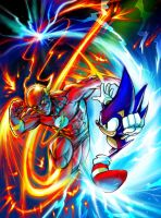 Flash vs Sonic by omnititle