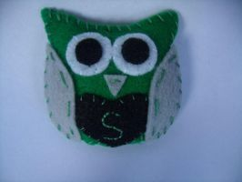 Slytherin Owl Plush by Muffinseatfood