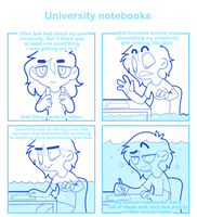 University notebooks by SmokyJack