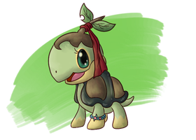 Team Fresh Member No. 2: Celeste the Turtwig by fuwante-chan