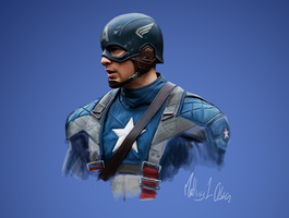 Captain America - Digi-painting by Lasse17