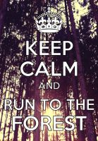 Keep Calm and run to the forest by taftar