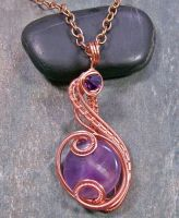 Amethyst and Copper Coriolis Pendant by HeatherJordanJewelry