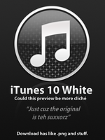 iTunes 10 White by Goomba4001