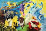 Pokemon - Eevee-splosion by Bluespira