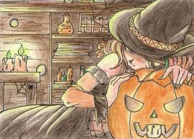ACEO - Happy Halloween by Jellymii