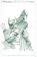 Batman and Wolverine by DaggerPoint